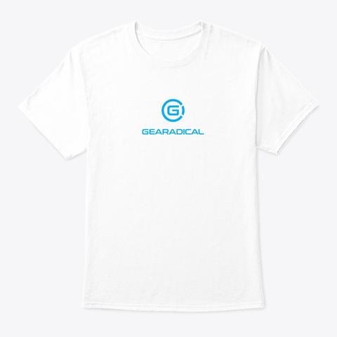 Gearadical Classic T Shirt White áo T-Shirt Front