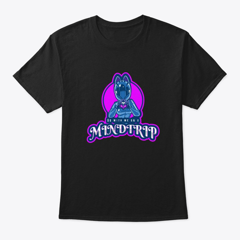 Mindtrip Black T-Shirt Front