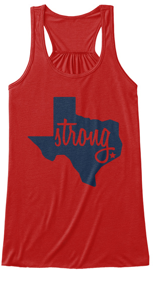 Strong. Red Women's Tank Top Front