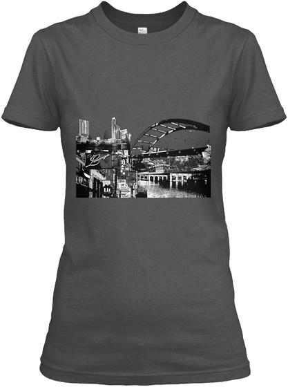 Austin Mashup Shirt Charcoal T-Shirt Front