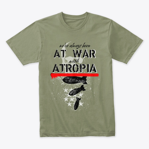 Atropia Light Olive T-Shirt Front