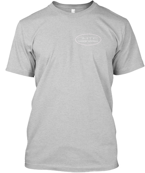 Turtle Rescue   Logo On Back Light Steel T-Shirt Front