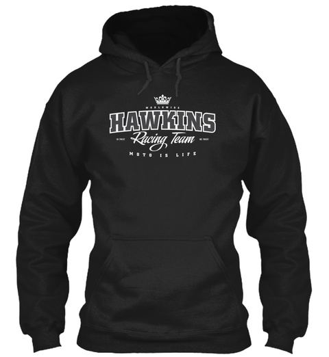 Hawkins Mx Racing Team Black T-Shirt Front