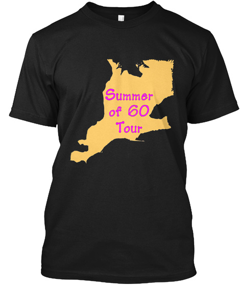 Summer Of 60 Tour Black T-Shirt Front