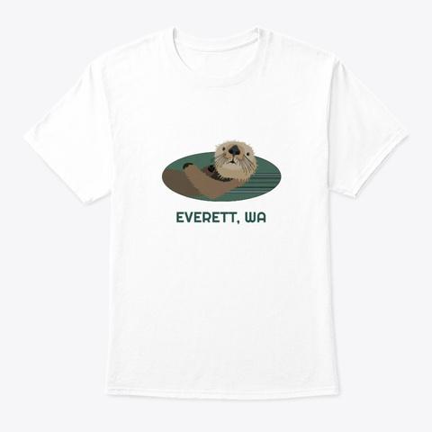 Everett Wa Otter Pnw Native American White T-Shirt Front