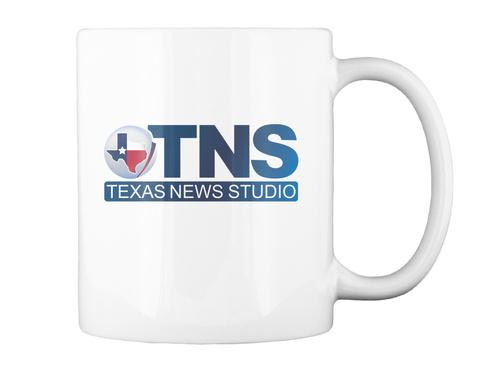 Tns Texas News Studio White T-Shirt Back