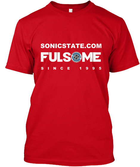 Sonicstate Fulsome  Red Camiseta Front