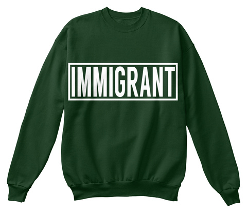 Immigrant Deep Forest  T-Shirt Front