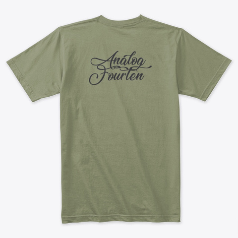 2 A Shirt Light Olive T-Shirt Back