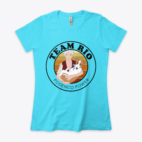 Team Rio Tahiti Blue  Women's T-Shirt Front