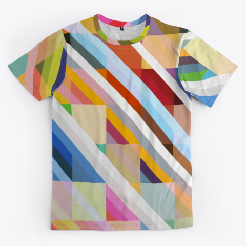 Abstract Multicolor Pixel Stripes Standard T-Shirt Front