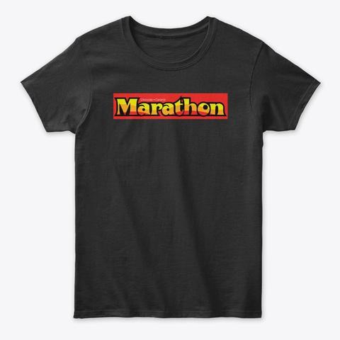 Marathon Candy Bar Black T-Shirt Front