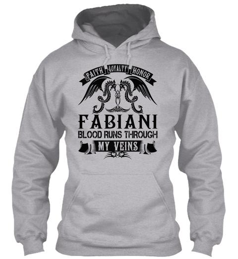 Fabiani   My Veins Name Shirts Sport Grey T-Shirt Front