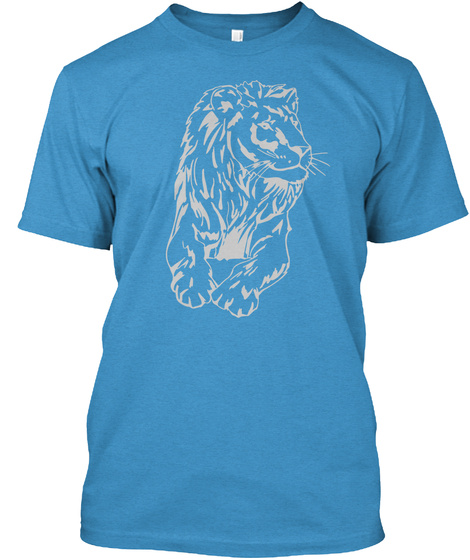 Lions Pride! Heathered Bright Turquoise  T-Shirt Front