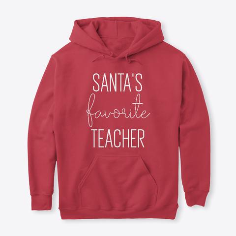 Santa's Favorite Teacher Apparel & Gifts Cardinal Red T-Shirt Front