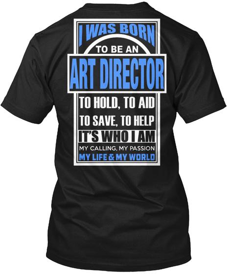 Art Director Black T-Shirt Back