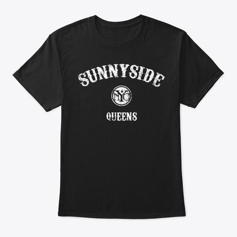 Sunnyside Queens T Shirt  Vintage Style  Black T-Shirt Front