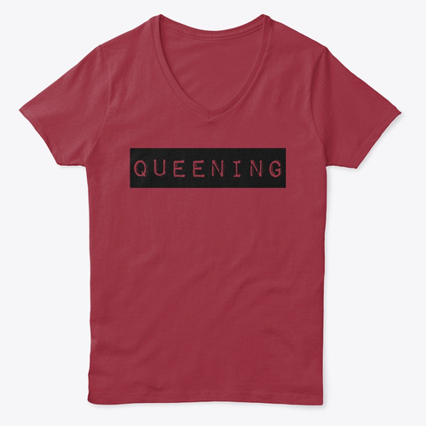 Queen Deep Red  T-Shirt Front