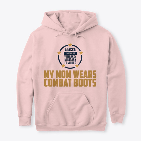 Mom In Combat Boots Light Pink T-Shirt Front