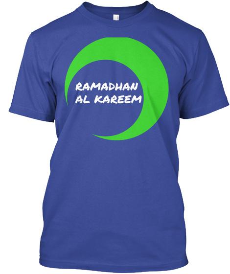 Ramadhan  Al Kareem Deep Royal T-Shirt Front