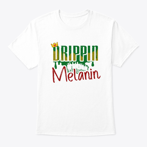 Black History Month African American White T-Shirt Front