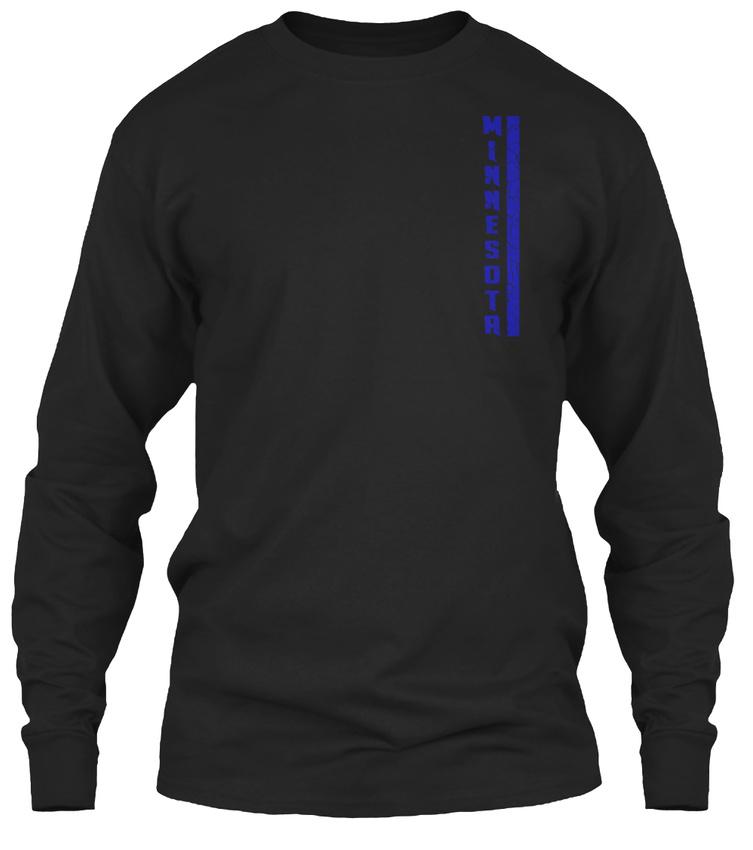 Mn-minnesota-Thin-Blue-Line-Minnesota-Gildan-Long-Sleeve-Tee-T-Shirt thumbnail 6