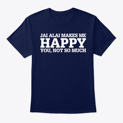 Jai Alai Funny Gift Idea  Navy T-Shirt Front