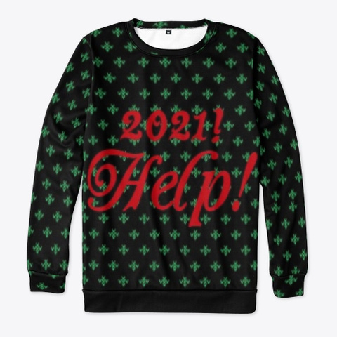Ugly/Funny Christmas Sweater  Black T-Shirt Front