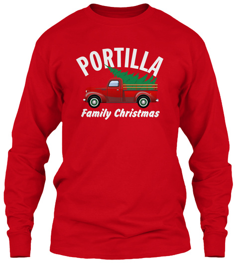 Portilla Family Christmas Red T-Shirt Front