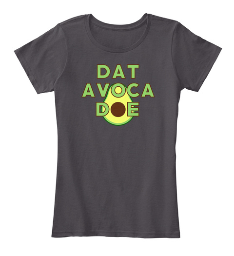Dat Avoca Doe  Heathered Charcoal  T-Shirt Front