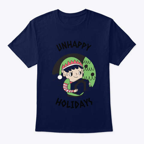 Unhappy Holidays Navy T-Shirt Front