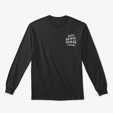 Anti Semaj Semaj Club Black Long Sleeve T-Shirt Front