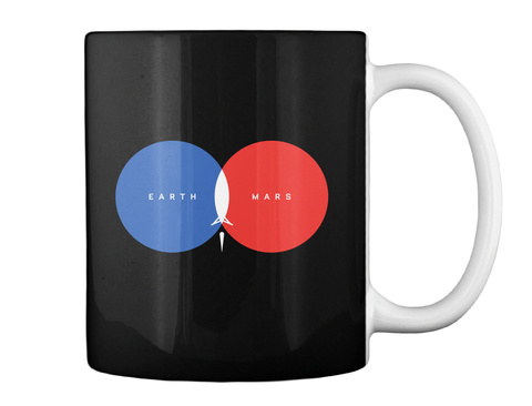From Earth To Mars Mug [Usa] #Sfsf Black Becher Back
