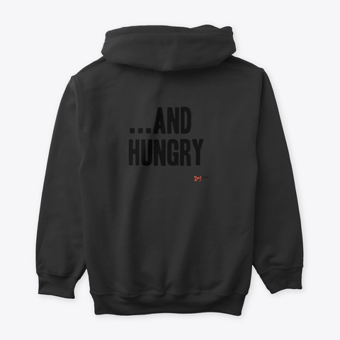 Thirsty...And Hungry Black T-Shirt Back