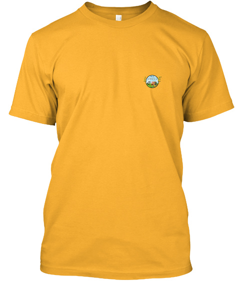 T Shirt Logo Poitrine Gold T-Shirt Front