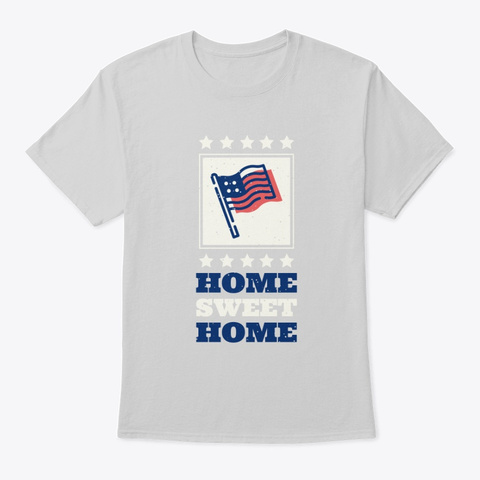 July Fourth American Flag Holiday Tee Light Steel T-Shirt Front