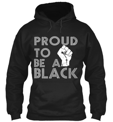 Black History Month  Awesome Hoodie Black T-Shirt Front