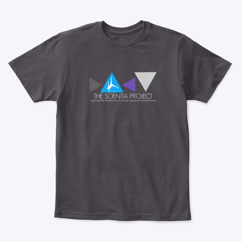 The Scientia Project Merchandise Heathered Charcoal  T-Shirt Front