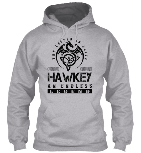 Hawkey   Legends Alive Sport Grey T-Shirt Front
