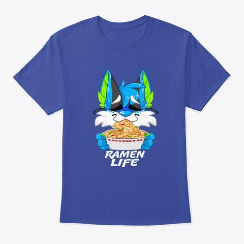 Xusho Furry Ramen Life Deep Royal T-Shirt Front
