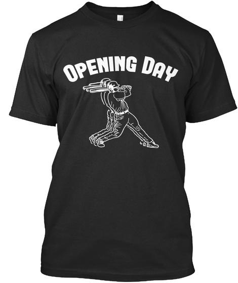 Tshirt Baseball Opening Day Black T-Shirt Front