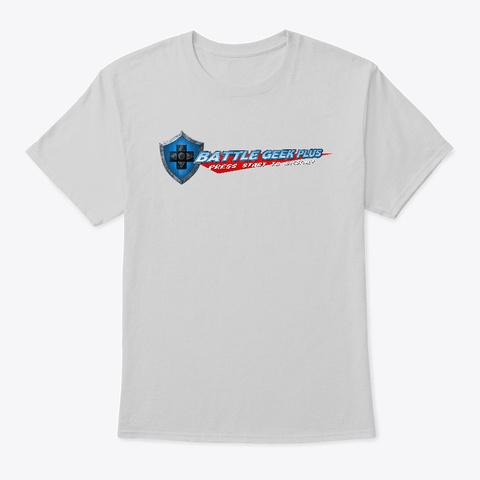 Battle Geek Plus T Shirt Light Steel T-Shirt Front