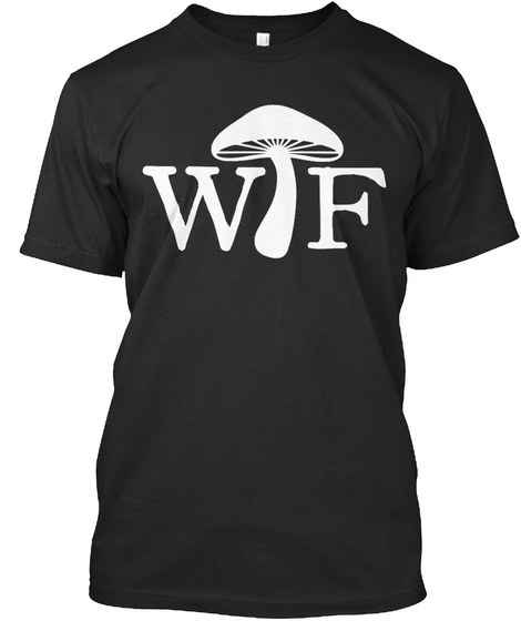 Wtf Black T-Shirt Front