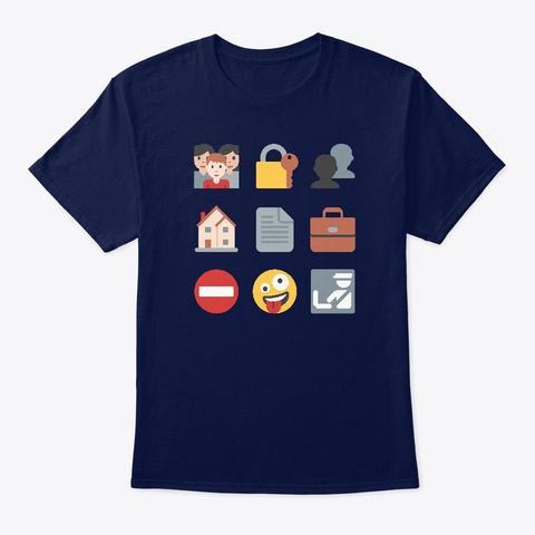 Fourth Emojiment Navy T-Shirt Front