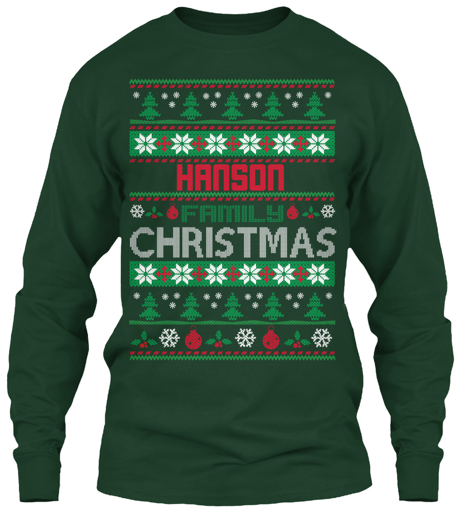 HANSON FAMILY UGLY SWEATER T SHIRTS