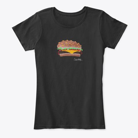 Bergen Burger   White Signature  Black T-Shirt Front