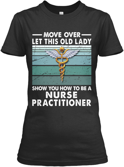 Awesome Nurse Practitioner Black T-Shirt Front