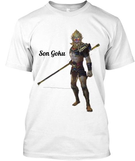 Son Goku White T-Shirt Front