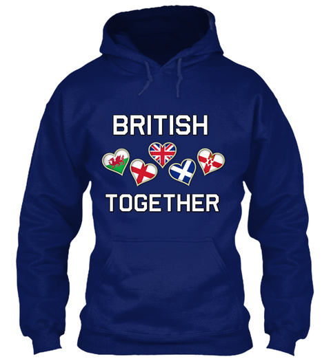 British Together Oxford Navy T-Shirt Front