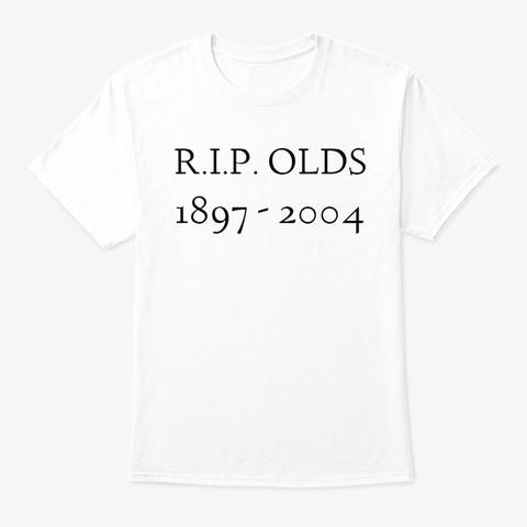 R I P  Shirt White T-Shirt Front